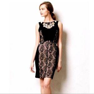 Anthropologie Maeve Paneled Lace Dress Size 2